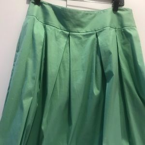 A-line skirt in mint green